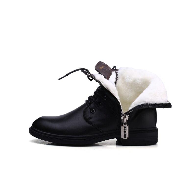 Новый Зимний Мотоцикл Снега Сапоги, мужская Подлинной/НАППА Кожа Oxfords Обувь, Мотокросс мужчины Лодыжки Меховые Сапоги, размер 6-9, Черный Цвет