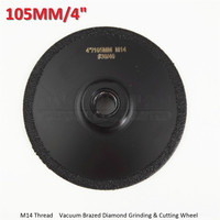DIATOOL 4 Vacuum Brazed diamond flat grinding wheel M14 Thread Grit #30 105mm Shaping wheel disk