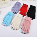 2017 New Fashion Winter Warm Solid Women Ladies Gloves Touch Screen Gloves Womens Girls Lovely Magic Gloves For Women S3486