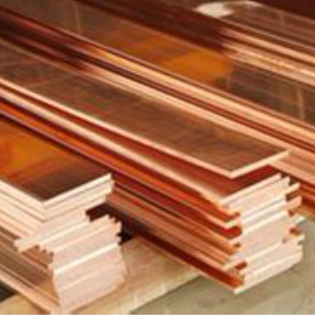 2pc New 99% Copper Strip T2 Cu Metal Copper Bar Plate 1.5mm*10mm*250mm DIY CNC