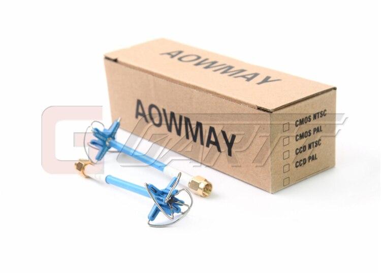 1 Pair/2PCS Aomway 5.8GHz FPV 4 Leaf Clover AV Transmission RHCP Antenna For Camera Drone dji phantom 3