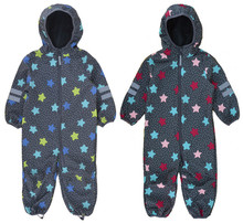 Childrens soft shell pants outdoor jumpsuit boys and girls Childrens waterproof jumpsuit, warm jumpsuit