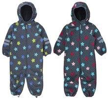 어린이 소프트 쉘 바지 야외 jumpsuit 소년과 소녀 어린이 방수 jumpsuit, 따뜻한 jumpsuit