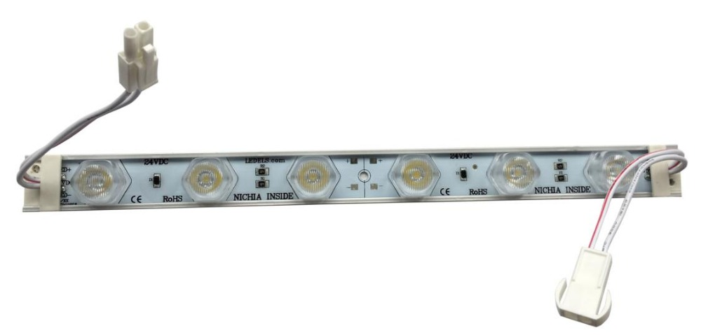300PCS/Lot 6LEDs edge-lit <font><b>24V</b></font> Nichia <font><b>Led</b></font> Strips lightbar for double-side lighting boxes signs, high lumens 3030 <font><b>led</b></font> strips light image