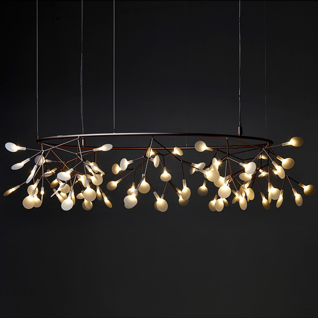 Moderne Kreis Ast Led Pendelleuchte Kreative Persnlichkeit Firefly Dia210cm Nordic Wohnzimmer Restaurant Halle Lobby