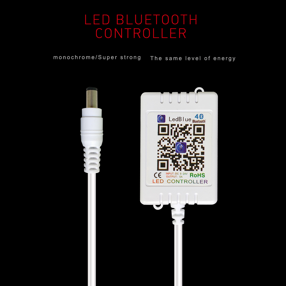 Dc 12v 24v Rgb Led Controller App Bluetooth Music For As All Wireless Control System Ultrasonic Lampbrightness 5 Single Strip Dimmers 12 V Brightness