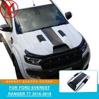YCSUNZ ABS car styling car hood scoop sticker Bonnet Scoops Hoods accessories For Ford Everest Ranger sticker T7 2016 2017 2018