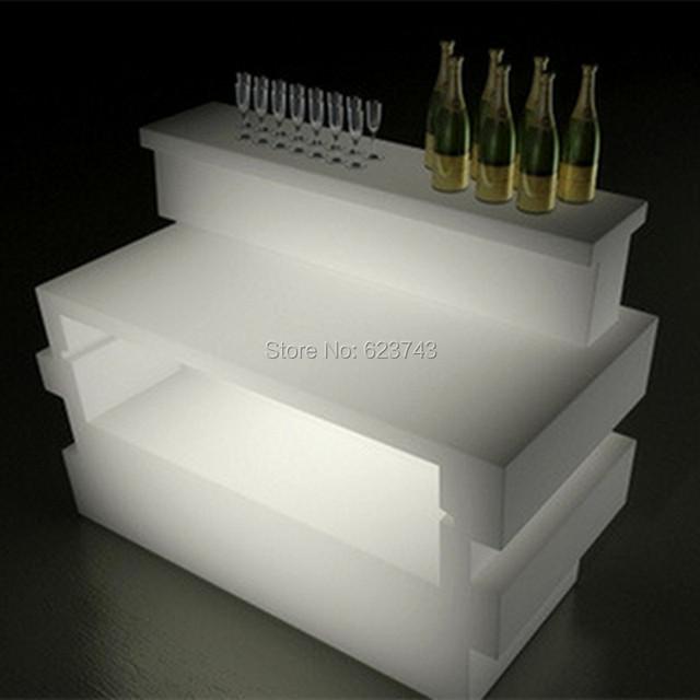 Plástico Multicolor iluminado PRAÇA de QUEBRA de LINHA de controle remoto recarregável LEVOU mesa de Bar de Vinho balcão iluminado smartbar