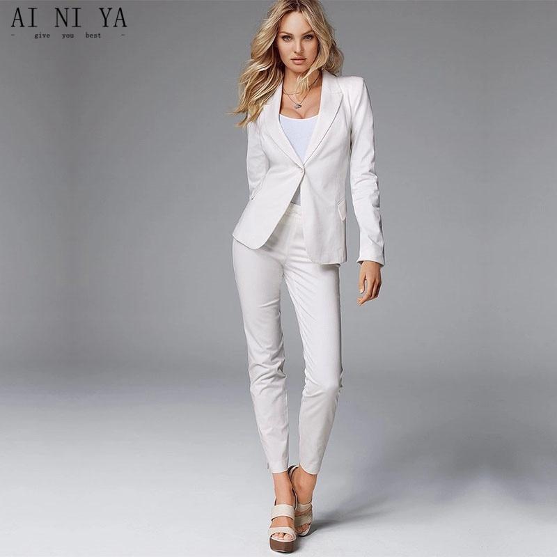 Здесь продается  Jacket+Pants White Women Business Suits Slim Fit Formal Womens Pantsuit Office Uniform Style Female Trouser Suit Custom Made 123  Одежда и аксессуары
