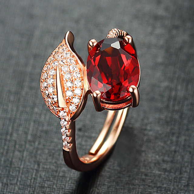 Fine Jewelry Womens Red Garnet Sterling Silver Cocktail Ring AspaD