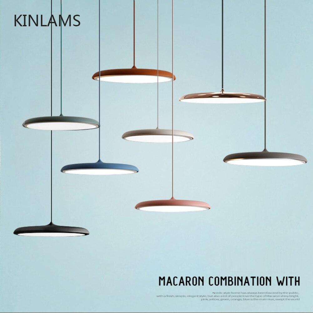 Moderne Art Conception LED Pendentif Lumière UFO Plaque Ronde Suspension lampe Pour Salle À Manger Salon Chambre Table Étude Suspendus lampe