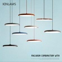 Moderne Kunst Design LED Anhänger Licht UFO Runde Platte Suspension Lampe Für Esszimmer Wohnzimmer Schlafzimmer Tisch Studie Hängen lampe