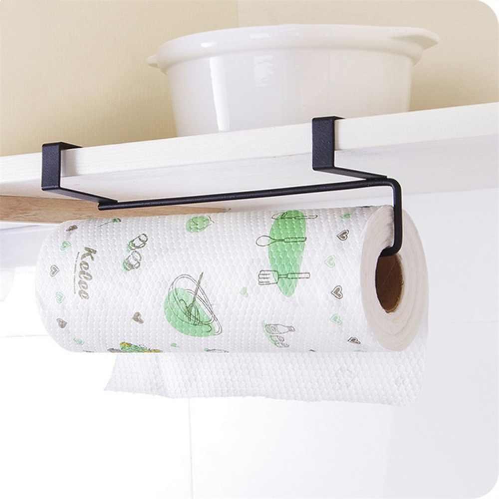 Metalen Keuken Tissue Opknoping Houder Badkamer Handdoek Houder Opbergrek Kabinet Kast Aftappen Plank Wc-papier Organisator