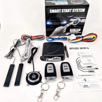 Car Start Stop Ignition Switch Keyless Entry Starter Anti theft System Car Switch Keyless Entry Engine Start Alarm System|Keyless Start System| |  -