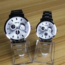 Reloj Mujer Moda casuel Quente assistir Cinta de aço Inoxidável Das Mulheres Dos Homens do amante Relógio de Quartzo Relógio Montre Femme Relogio masculino