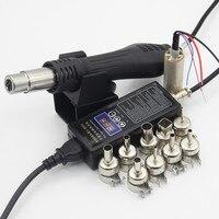 RIESBA 220 V 110 V Portatile Bga Saldatura Stazione Hot Air Blower Heat Gun 8858 nucleo di Riscaldamento ugello pinzette strumenti di saldatura