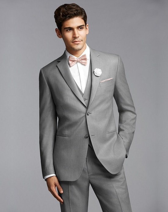 Online Shop Custom 2015 Korea-Satin Gray Wedding Tuxedo Man Groom ...