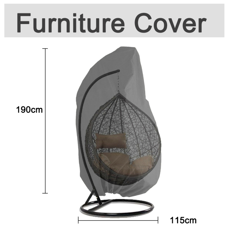Outdoor Patio Hanging Covers for Wicker Chairs Egg Swing Chair Covers S Heavy Duty Water Resistant Windproof Rainproof Kitchen
