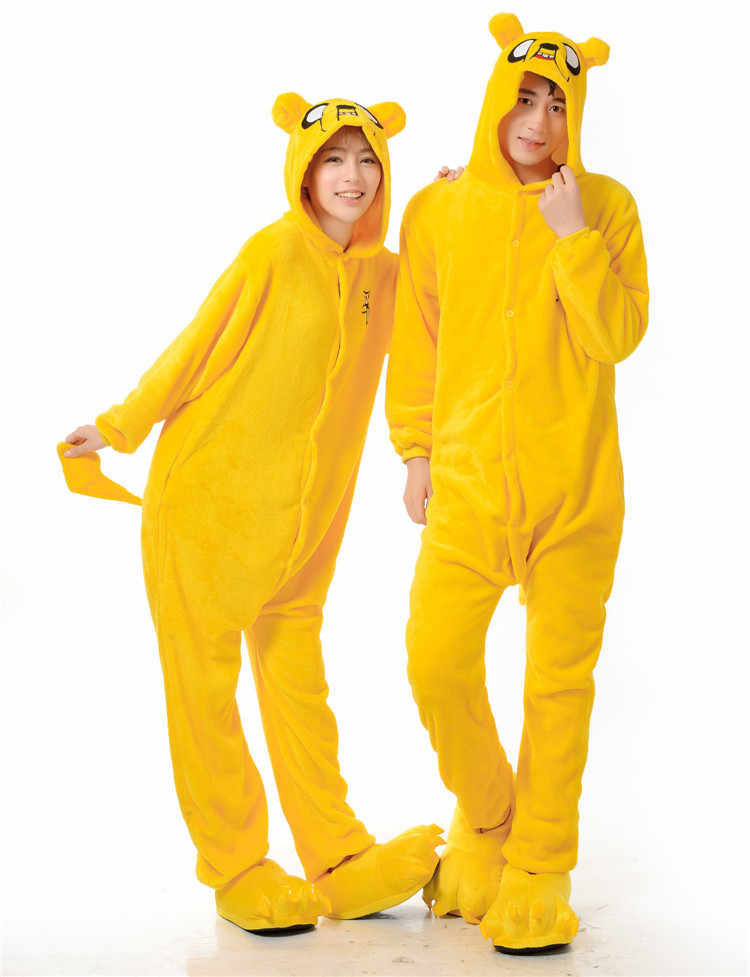 ae88d9aa5794 Kigurumi Adult Pyjamas Jake Dog Onesie Cosplay Costume Pajamas Cartoon  Animal Onesies Sleepwear For Women Men