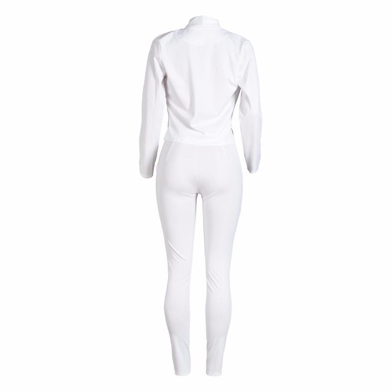 women white pants suits set -4
