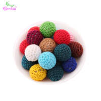 Fashion Handmade Beads Jewelry Accessories 20MM 100Pcs/Lot Mix Color Gumball Bubblegum Beads Crochet Beads Best Winter Beads