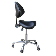 Ergonomic Swivel Dental Chair Saddle Doctor's Stool Adjustable Backrest Leather Dentist Spa Rolling Chair Beauty Salon Clinic