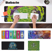 Babaite Boy Gift Pad Rick And Morty Gaming Player desk laptop Rubber Mouse Mat Free Shipping Large Mouse Pad Keyboards Mat