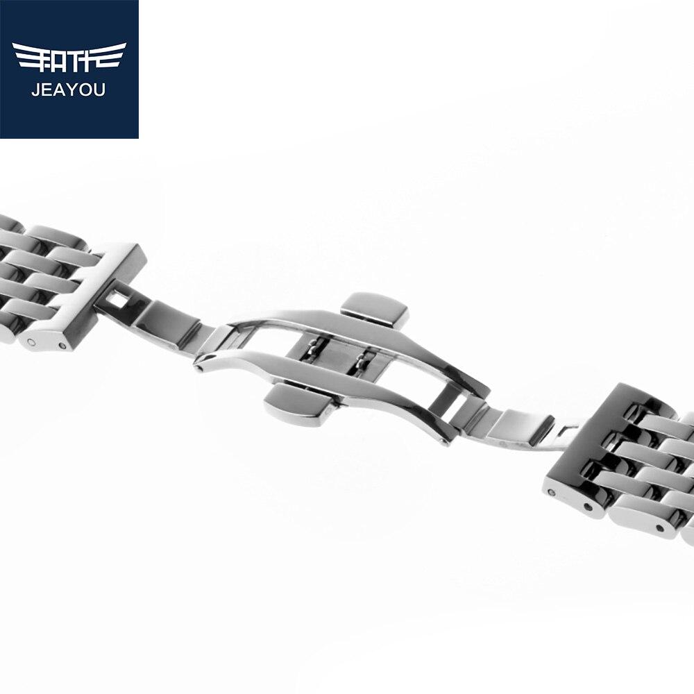 JEAYOU Yüksek Kalite Paslanmaz Çelik Saat Kayışı Bilezik 20mm - Saat Aksesuarları - Fotoğraf 2