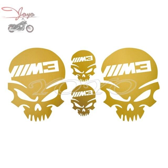 Motor m3 tengkorak decal box bagasi stiker kantong pelana decals logo sticker untuk bmw f s g universal