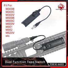 Đêm Evolution Chiến Thuật Áp Lực Chức Năng Kép Băng Chuyển Đổi Vũ Khí Ánh Sáng Chuyển Đổi cho Airsoft Đèn Pin M300 M600 M951 M952 Đen