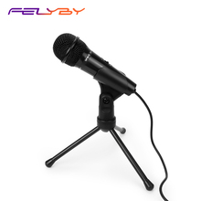 FELYBY podcast Studio Microfone Condensador Profissional microfone de Mesa para computador Portátil telefone Skype speech reunião jogo