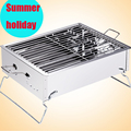 Stainless Steel Outdoor Household Family Party Barbecue Brazier Charcoal Portable BBQ Cooking Tools For Camping mini bbq grill