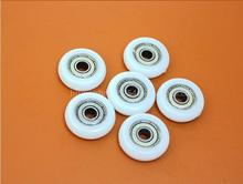10pcs/lot size6x30x8 626zz POM Bearing shower room sliding door pulley