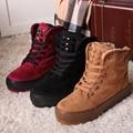 O Envio gratuito de Moda Inverno Botas Curtas Sapatos Casuais Botas de Neve Estilo Preppy das Mulheres Tornozelo Botas Tamanho 35 ~ 40
