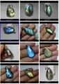 Natural Labradorite quartz Crystal pendente frete grátis