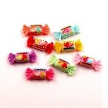50Pcs Mixed Resin Candy Decoration Crafts Beads Flatback Cabochon Scrapbooking For Embellishments Kawaii Diy Accessories