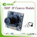 Placa do Módulo de Câmera 1.3MP 960 P HD CCTV câmera de Rede IP, com IRCUT Lente e Cabo LAN, Onvif DIY Seu Sistema de Segurança
