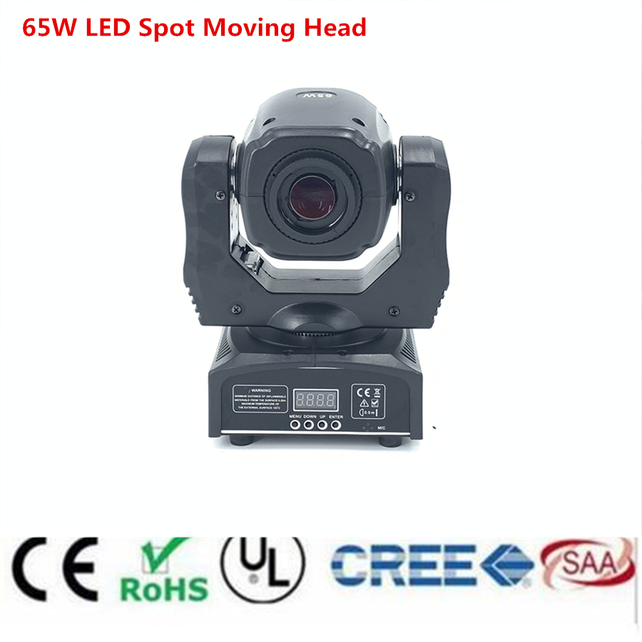 60W LED Spot Moving Head Light 65W LED DJ Fascio di Luce HA CONDOTTO LA Luce del Punto con gobo & colore ruota Della Discoteca Dj Equipmentnt