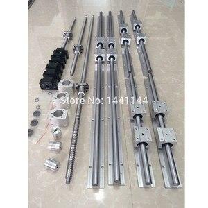EU RU entrega sbr riel lineal de guía 6 set SBR16 - 300/700/1100mm + husillo de bolas de SFU1605 - 350/750/1150mm + BK/BF12 CNC