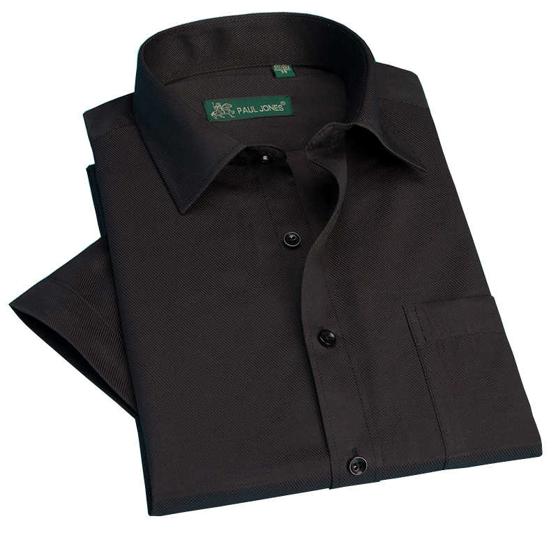 夏半袖クラシックビジネスフォーマルドレスシャツツイル Sollid ストライプタイプファッション男性シャツ S-5XL