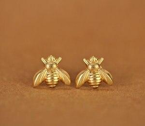 Image 2 - 30 זוגות אופנה דבש דבורת עגילי זעיר דבורת דבש צרעה עגילי וודלנד חרקים טוס ציפור דבש Bumble Bee stud עגילים