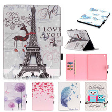 """For Apple iPad 2 3 4 Case Case Owl Flower Tower Pattern PU Leather Flip Anti Drop Tablet Shell with Stylus holder For iPad 9.7"""""""