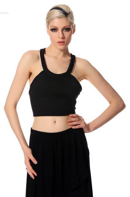 cf16f9ff15f4a Sexy Cross Strap Backless Women Cut-out Bustier Bralette Bralet Crop Top  Corset Vest Blouse Tank Black Sleeveless Crop Tops 50