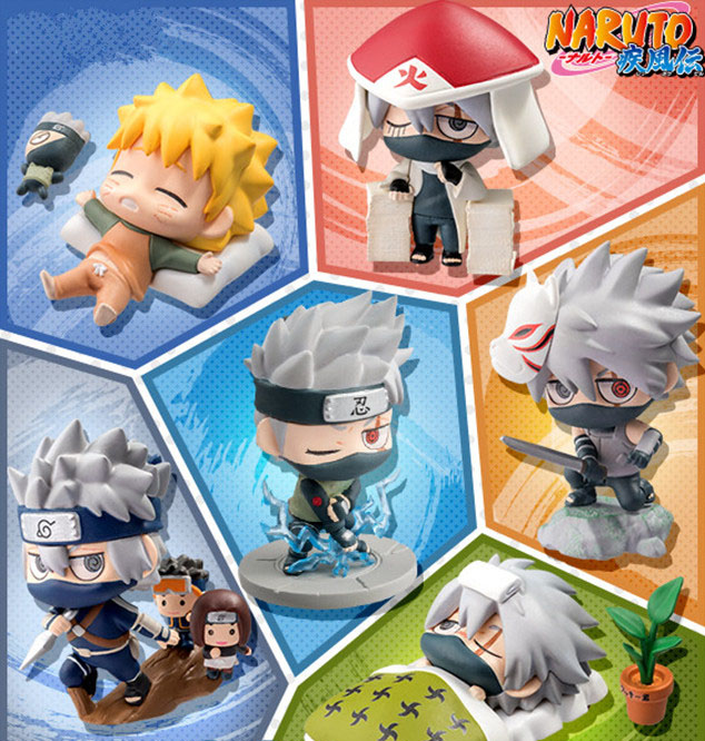 "4/"" New 5pcs Saruke Nagato Naruto Anime PVC Dolls Action Figure Set Toys Gifts"