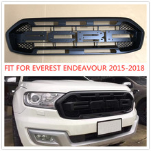 OWN DESIGN MODIFIED FRONT RACING GRILLS GRILLE MESH BUMPER MASK COVER FIT FOR EVEREST ENDEAVOUR 2015-18 CAR EXTERIOR GRILL PARTS hr grille front racing raptor grills cover fit for ford everest endeavour 2015 2017