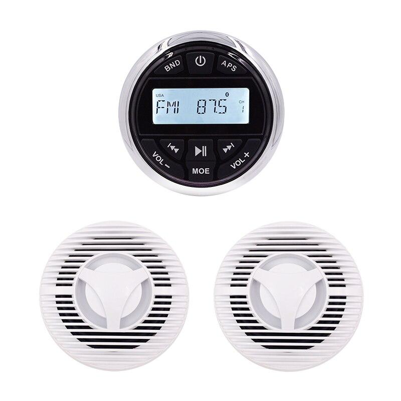 Récepteur Audio marin extérieur imperméable de Radio FMAM lecteur marin MP3 Bluetooth pour le bateau de Yacht + 6.5