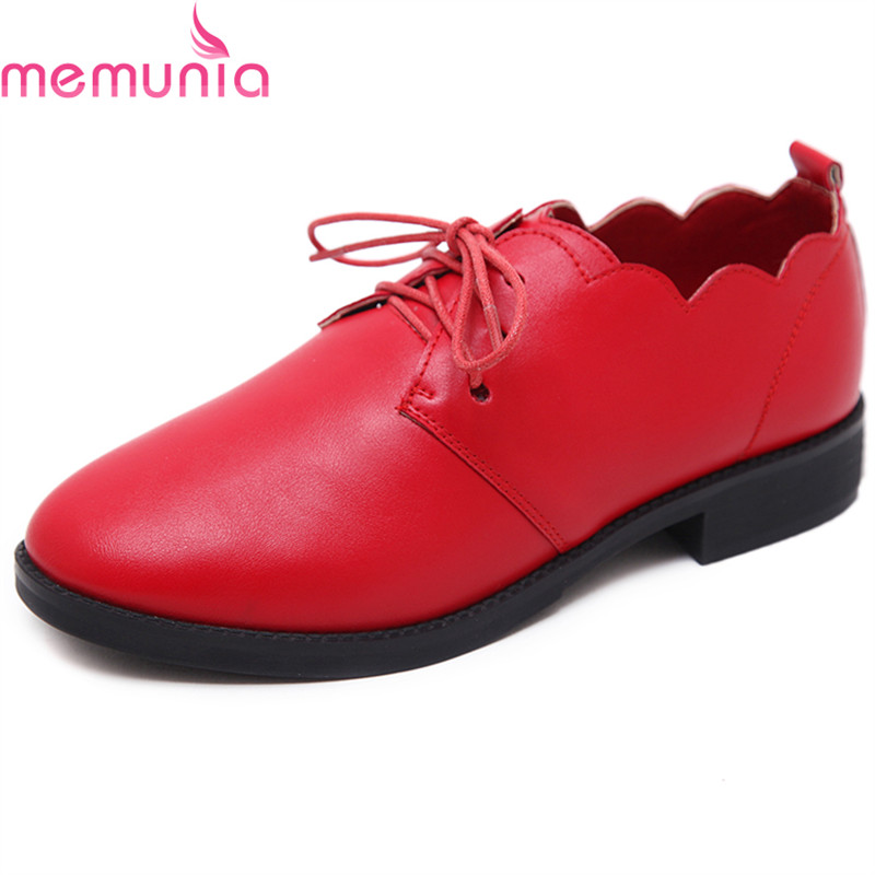 MEMUNIA Big size 34-40 women shoes high heel fashion lace up pumps new arrive comfortable hot sale single shoes memunia 2018 new arrive women pumps