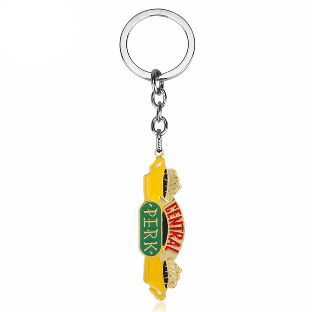 Friends Keyring Central Perk Coffee Shop Charm Keychain Friends TV Show Gift UK