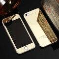 Rose gold premium 9 h vidrio templado de cine de front + back mirror cubierta para iphone 6 s 6 s plus 5 5S sí caso del protector de pantalla Coque