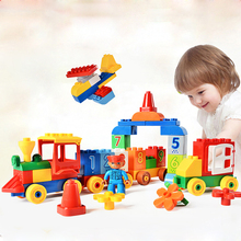 75/65/66/50PCS Big Blocks Number Train Building Set Compatible with Legoed Duploe Educational Toys DIY Baby Toys Building bricks